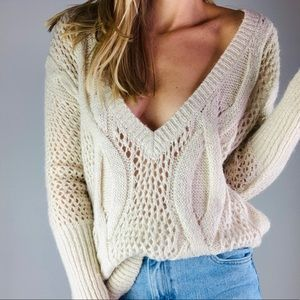 urban outfitters mohair oversized V-neck sweater S